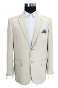 China Custom Mens Casual Blazer Jacket , Mens White Blazer Jacket Plus Size Beige on sale