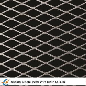 China Flattened Expanded Metal Mesh Diamond Shaped Opening 0.5~6mm Thickness on sale