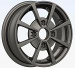 Preto do elevado desempenho rodas do cromo da liga de 12 polegadas, borda da roda de carro