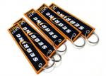 Double Side  Embroidery Fabric Keychain  Customized Logo And Word