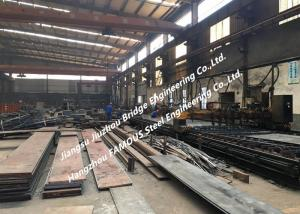 China General Steel Structural Fabrication Process Cutting Splicing Welding Polishing Shot Blasting And Coating Treatment on sale
