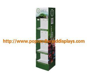 China Free Standing Cardboard Display Stand For Green Tea / Lipton Tea Bag Advertising on sale