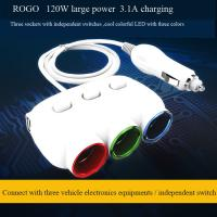 China hot selling car cigarette lighter socket and plug with dual usb charger on sale