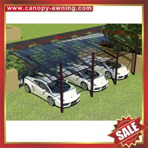 China excellent sunshade waterproofing garden parking polycarbonate PC carport car shelter for villa house building cottage on sale