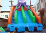 Amusing Commercial Inflatable Slide , Inflatable Pool Slide For Water Park
