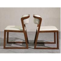 China Multi Purpose Use Modern Wood Dining Chairs With Leather Seats And Back on sale