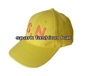 Quality Cheap fashion yellow canvas promotional baseball cap for sale