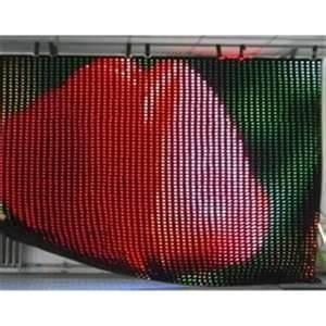 China Full Color SMD 5050 Led Curtain Display with 711 Pixels / m2 Density 1R1G1B P37.5 on sale