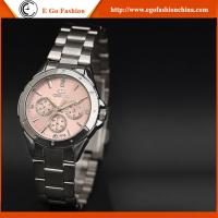 019A Pink Lady Watches Woman Female Watch Stainless Steel Watch Luxury Rhinestone Watches