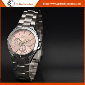 China 019A Pink Lady Watches Woman Female Watch Stainless Steel Watch Luxury Rhinestone Watches on sale