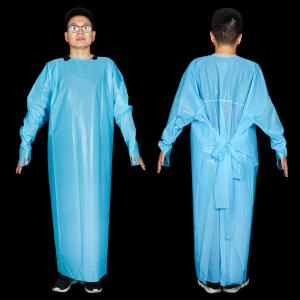 China Medical Surgical Waterproof Disposable CPE Gown on sale