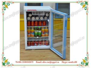 China OP-214 Four Shelves Layers Upright Glass Door Beverage Freezer ,Beverage Display Cooler on sale