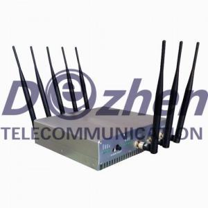 3G 4G Cell Phone High Power Signal Jammer , 8 Antennas Phone