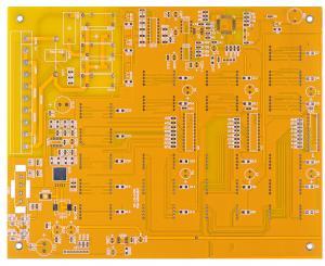 China yellow Multilayer Rigid Printed Circuit Board Leadfree HASL FR-4 4 layers pcb Board on sale