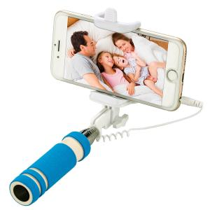 China Handheld Wired Selfie Stick , Smartphone Selfie Stick Adapter Rotating 180 Degrees on sale