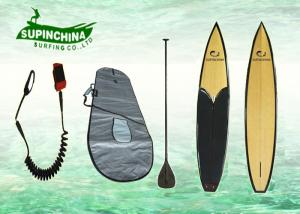 China Bamboo 12'6 racing Joe Bark Paddleboards with Round front deck on sale