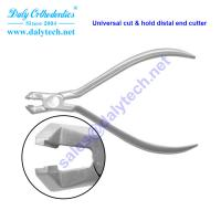 Universal cut and safety hold distal end cutter pliers of lingual orthodontics