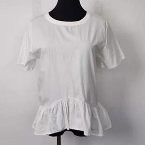 China Stylish Plain White Women's Short Sleeve Cotton T Shirts For Summer on sale