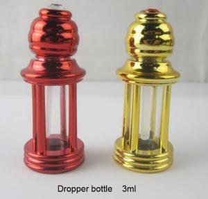 China крен стеклянной бутылки эфирного масла капельницы флакона духов 4-столбца 3мл пластиковый на бутылке on sale
