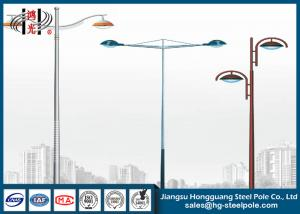 China 3mm  Thickness Steel Tubular Pole Double Arm  With  Internal And External Welding on sale