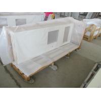Professional Quartz Stone Countertops , Quartz Bathroom Worktops Pure White Color