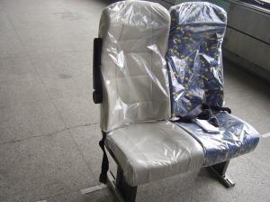 Super Steel Frame Luxury Coach Seats With Armrest And Seat Belt For
