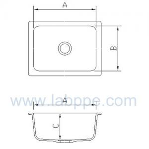 Quality SH267EB-Lab Epoxy resin Cup Sink,267*114*160mm for sale