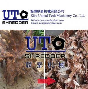 China wood shredder /wood pallet shredder machine/furniture shredder/ single roller crusher on sale