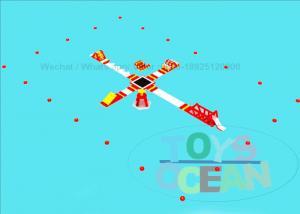China Cross Design Buoys Inflatable Water Park Air Aqua Toys 0.9MM Plato PVC on sale