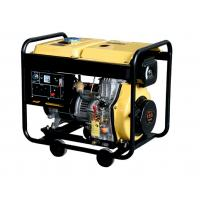 5000 W Silent Diesel Generator Set Yellow / Red Quiet Portable Generator