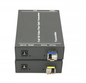 Quality Audio DVI Video To Fiber Fiber Ethernet Media Converter 1920 X 1080P 60Hz for sale