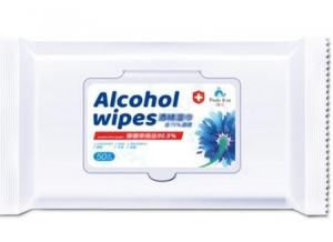 China Non Woven 75% Alcohol Wet Wipe Anti Bacterial For Quick Cleaning Sanitizing on sale
