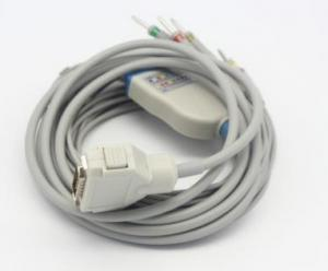 China Compatible Reusable Fukuda Denshi EKG Machine IEC ECG / EKG Cable Approved IS013485.medical cable on sale