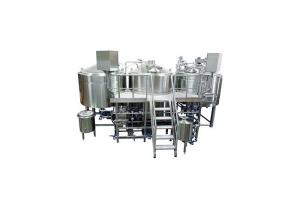 China Sanitary 304 Stainless Steel 3 Kettle Brew System 50MM PU Instualtion CE Approved on sale