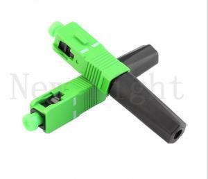 China SC APC quick fiber optic connectors optical patch cord connectors on sale