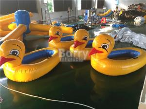 China Big Yellow Duck Animal Floats Inflatable Water Toys For Pool with Logo Printing on sale