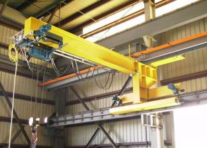 China Free Standing Jib Crane With Slewing Cantilever Arm / Limit Switch Available on sale
