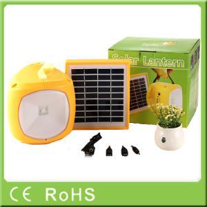 China Para luz solar llevada de la linterna recargable portátil de la emergencia 1.7W 9V la pequeña on sale