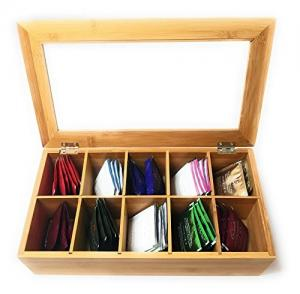 China bamboo tea box with 10 component acrylic tea box for factory price on sale