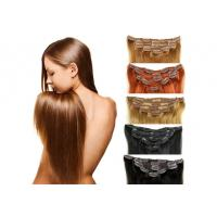 China Full Ends Seamless Easy Clip In Human Hair Extensions For Black Women on sale