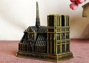 China Metal Alloy DIY Craft Gifts Well - Known World Building / Notre Dame De Paris 3D Model on sale