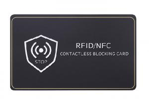 China Credit Card Protector Anti Theft 13.56 Mhz RFID Blocking Cards on sale