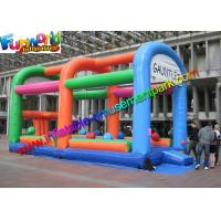 China 18OZ  Adult Inflatable Wipeout Sport Game , Wipe Out Obstacle Coure For Outdoor on sale