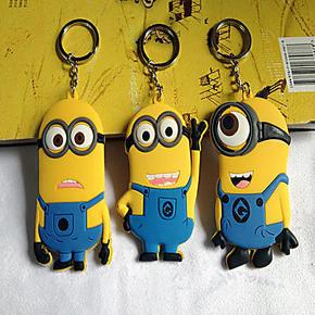 China high quality cheap price custom logo soft pvc rubber  personalized minion dave keychain with cool &cute design on sale