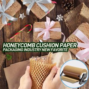 China Degradable Recyclable Honeycomb Wrapping Paper Customized Size on sale