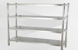 China Collapsible Stainless Steel Display Racks / Storage Supermarket Heavy Duty Industrial Shelving on sale