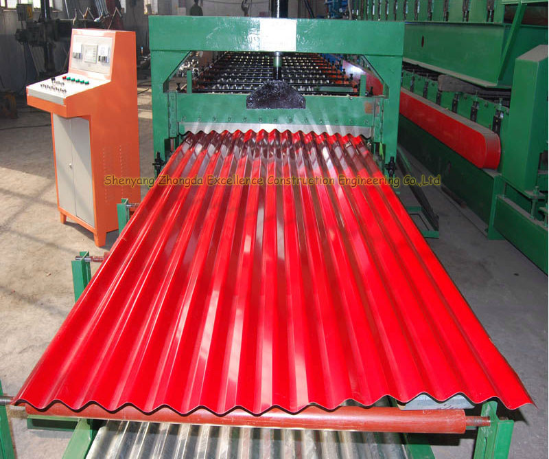 Weather Proof Zinc Coated Corrugated Metal Roofing