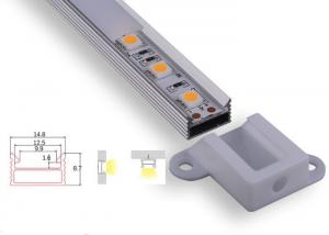 China Opal Matte Led Aluminium Extrusion Profiles Indoor Lighting With End Caps Clips on sale