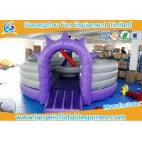 CE Inflatable Sport Games / Purple Competitive Fighting Arena Eco Friendly
