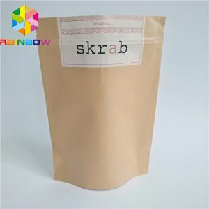China Different Size Plastic Pouches Packaging Protein Powder Ziplock For Chocolate Vanilla Body Skrab on sale